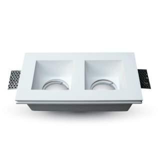 V-TAC VT-762 Portafaretto LED da Incasso Quadrato 2*GU10 e G