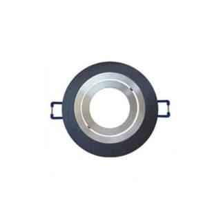 Portafaretto GU10  rotondo orientabile con interno cromato m