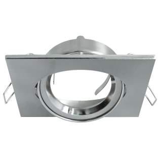 Portafaretto GU10  quadrato orientabile silver satinato