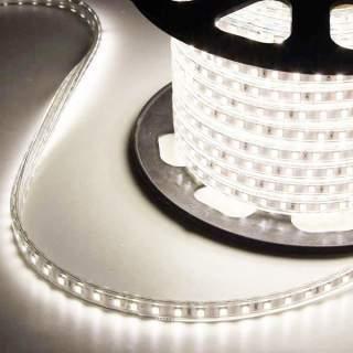 Strip led 3014 220v IP65 6w/m luce soffusa prezzo al metro luce naturale