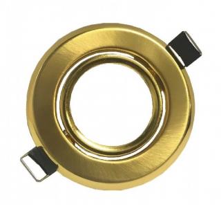 Portafaretto GU10  rotondo orientabile colore oro satinato