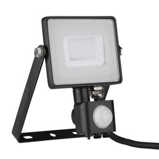 V-TAC PRO VT-30-S-B Faro LED Chip Samsung 30W con Sensore di Movimento e Crepuscolare e Interruttore Manuale di Bloccaggio Color