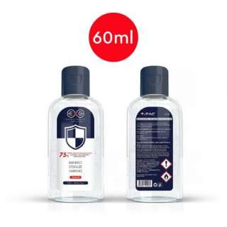 V-TAC VT-GEL GEL Igienizzante Mani con Antibatterico (Flacone 60ml) - SKU 11211