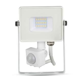 V-TAC PRO VT-10-S Faro LED Chip Samsung 10W con Sensore di Movimento bianco IP65 bianco freddo