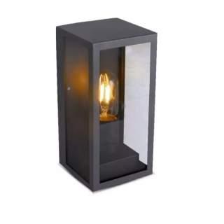 V-TAC VT-837 Lampada LED da Giardino Quadrata con Portalampada E27 (Max 60W) Corpo Nero Opaco Copertura in Vetro IP44
