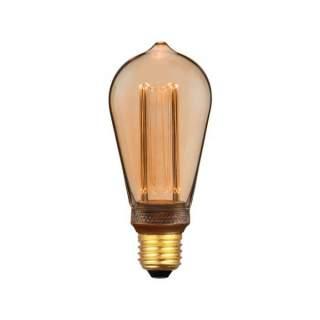 V-TAC VT-2185 Lampadina LED E27 4W ST64 Candela Filamento Am
