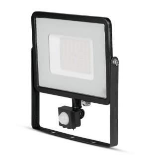 V-TAC PRO VT-50-S Faro LED Chip Samsung 50W con Sensore di Movimento e Crepuscolare e Interruttore Manuale di Bloccaggio Colore