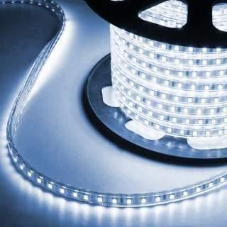Striscia Led 220V modello 2835 IP65 bobina 6000 leds 12w/m ad alta luminosit