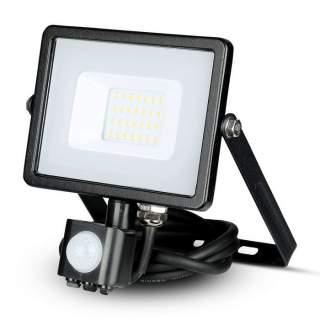 V-TAC PRO VT-20-S Faro LED Chip Samsung 20W con Sensore di Movimento e Crepuscolare e Interruttore Manuale di Bloccaggio Colore