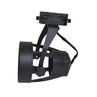 Portafaretto nero per Binari par30 modello aperto regolabile