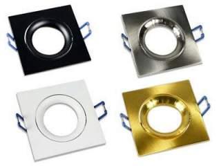 Portafaretto GU10  quadrato orientabile  modello P20 vari co