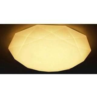 Plafoniera da interno a diamante effetto brillantinato 36w luce calda