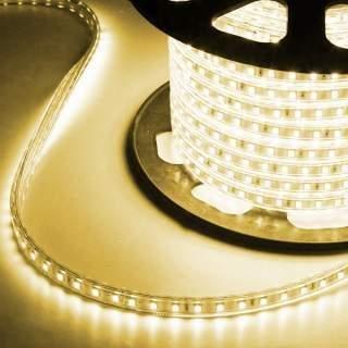 Strip led 3014 220v IP65 6w/m luce soffusa prezzo al metro luce calda