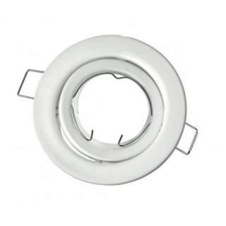 Portafaretto GU10  rotondo orientabile colore bianco