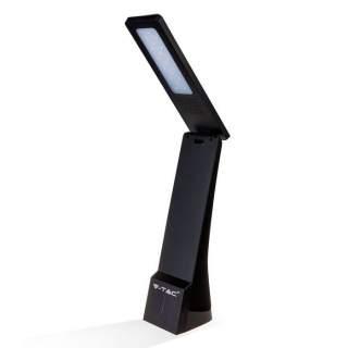 V-TAC VT-1014 Lampada LED da Tavolo 4W 3 in 1 Ricaricabile a Batteria Colore Nero Touch Dimmerabile