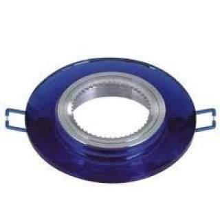 Portafaretto GU10  rotondo in vetro modello P19 vari colori