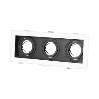 V-TAC VT-887 Portafaretto LED da Incasso Quadrato 3xGU10 Orientabili Colore Bianco e Nero - SKU 8878