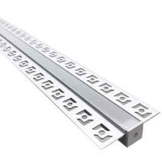 Profilo di alluminio per cartongesso ad incasso basic 2 metri