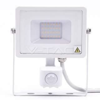 V-TAC PRO VT-20-S-B Faro LED Chip Samsung 20W con Sensore di Movimento e Crepuscolare e Interruttore Manuale di Bloccaggio Color