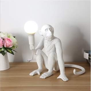 Lampada da tavolo con attacco E27 modello scimmia seduta