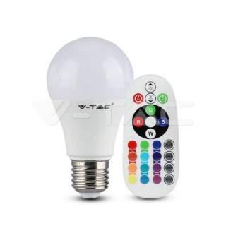V-TAC VT-2229 Lampadina LED E27 9W A60 con Telecomando RGB + 6400K