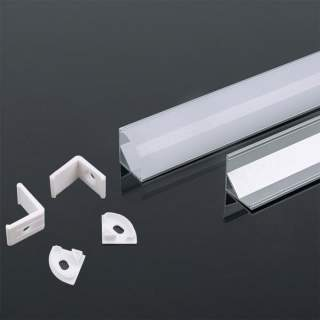 Profilo di alluminio angolare da 2 metri con cover opaca di protezione