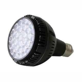 Lampadina Par30 E27 35w corpo nero luce Calda