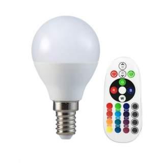 V-TAC VT-2234 Lampadina LED E14 3.5W P45 con Telecomando RGB