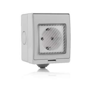 V-TAC SMART HOME VT-5000 Presa Esterna Wifi 10A 2P + Shuko
