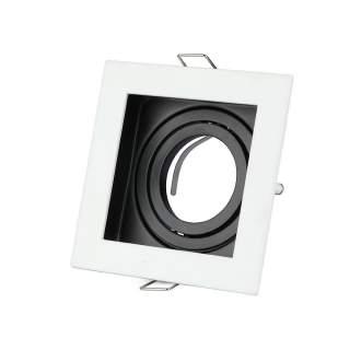 V-TAC VT-781SQ Portafaretto LED da Incasso Quadrato GU10 e GU5.3 (MR16) Colore Bianco Orientabile - SKU 3597lore Nichel Satinato