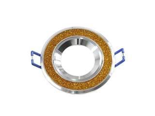 Portafaretto GU10  rotondo orientabile brillantinato modello
